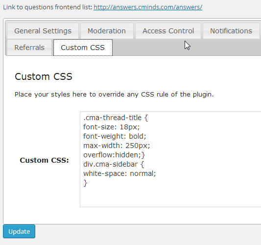 Copy element CSS code into the custom CSS tab in the plugin settings and change parameters to fit with your site's look & feel