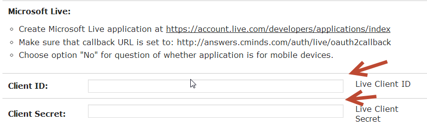This is how to create a Microsoft Live app that can be used with the cm download manager plugin to authenticate contributions by users that have logged in using their Microsoft Live account.