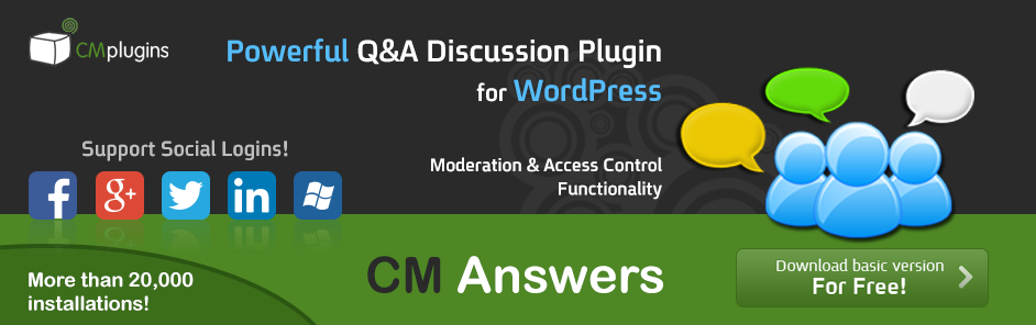 CM Answers Q&A Discussion Forum Plugin for WordPress
