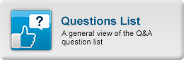 CM answers online demo- A general view of the Q&A question list