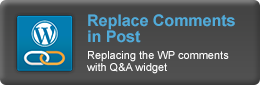 Replace WordPress Comments With CM Answers widget